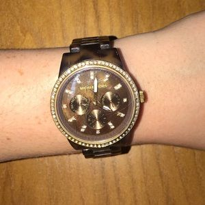 Michael Kors Tortoise Diamond Watch
